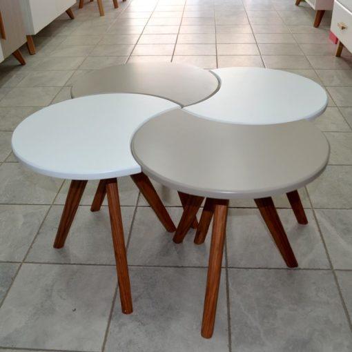 série de 4 Tables