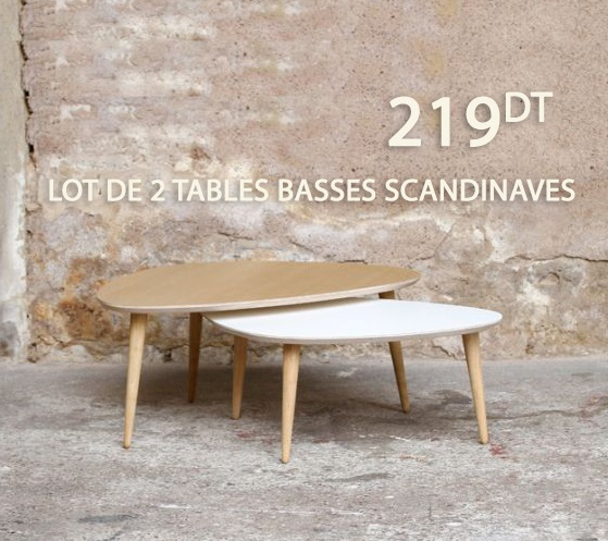 lot de deux tables basses