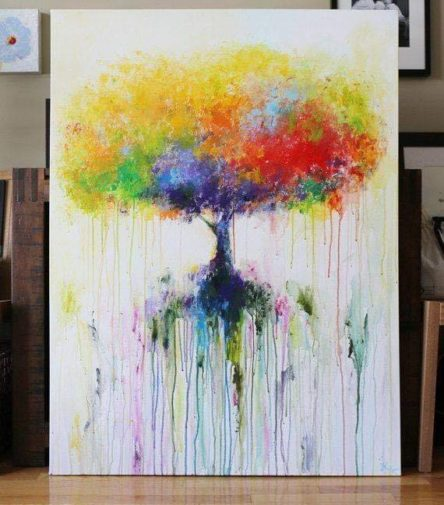 Tableaux unique peinture acrylique sur toile