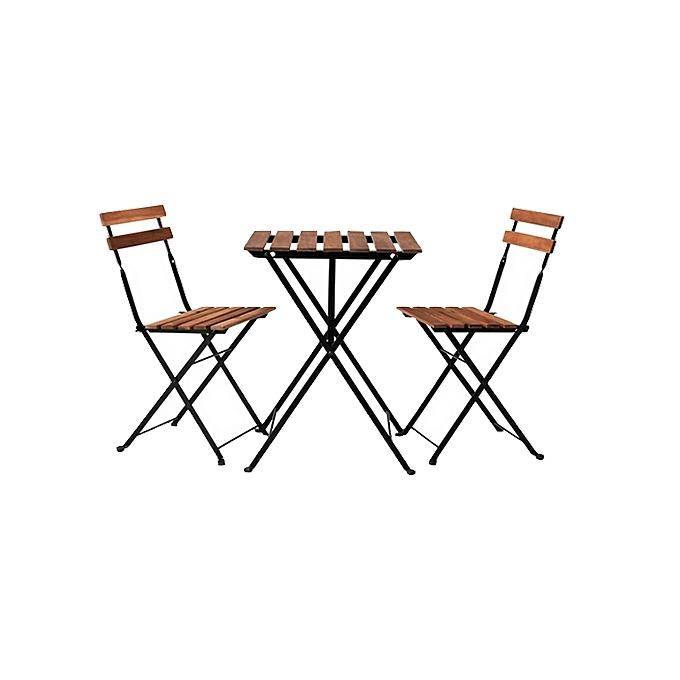 ensemble table+ 2 chaises