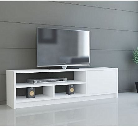 meuble tv-Blanc
