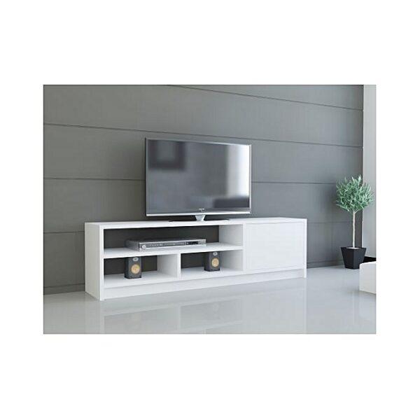 meuble tv-Blanc-1m30