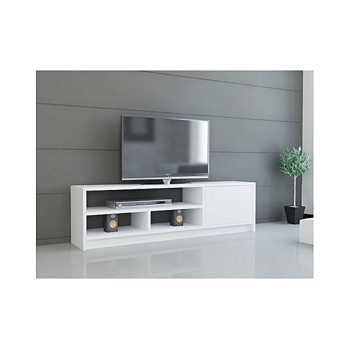 Meuble Tv M13 Blanc L 1 M 30 H 45 P 35
