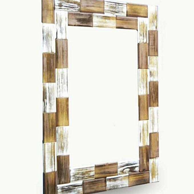 miroir décoratif en bois