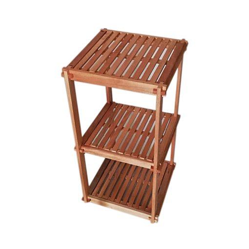 Élément 3 étage en bois noble - 78 X 40 X 40 cm - Bois noble