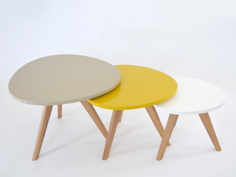 Table Tunisie Lot De 3 Tables Basses Style Scandinave