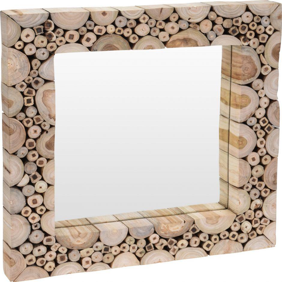 Miroir murale en bois