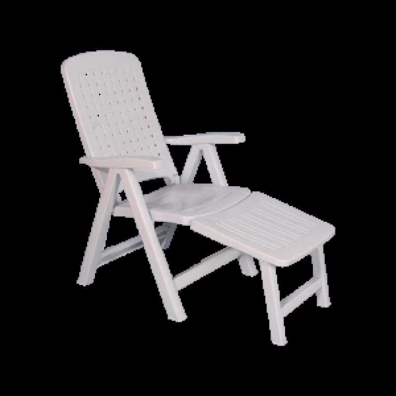 Chaise longue 5 position nesma avec repose pied