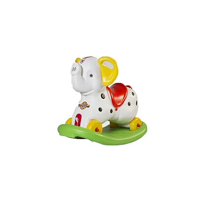 jouet- Éléphant-Bascule