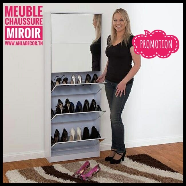 meuble-chaussures-miroir-tunisie
