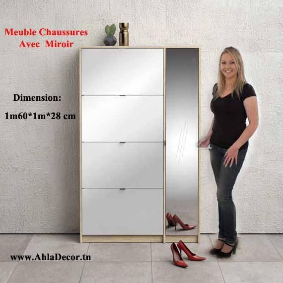 Meuble Chaussures Avec Miroir Pm72