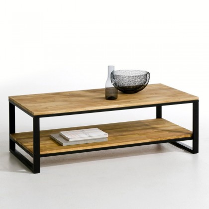 table-basse-boise-rouge-et-acier-tunisie
