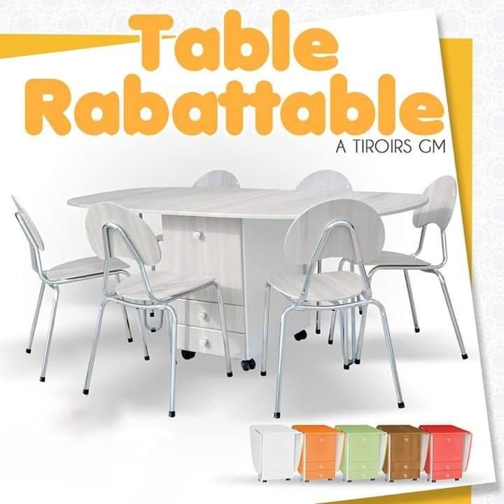 Table Pliante A Tiroirs Gm Ahla Decor Meuble Decoration
