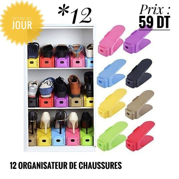 Pack 12 Organisateurs De Chaussures