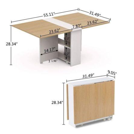 table-bureau-pliable-moderne