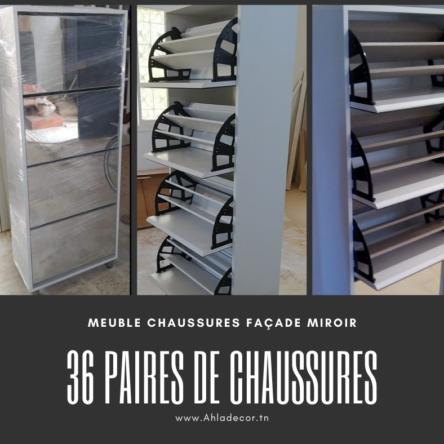 promotion-meuble-chaussures-36-paires-tunisie-miroir
