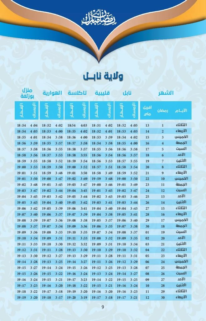 امسكيات-رمضان-2021-نابل