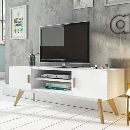 meuble-tv-scandinave-blanc-moderne-tunisie