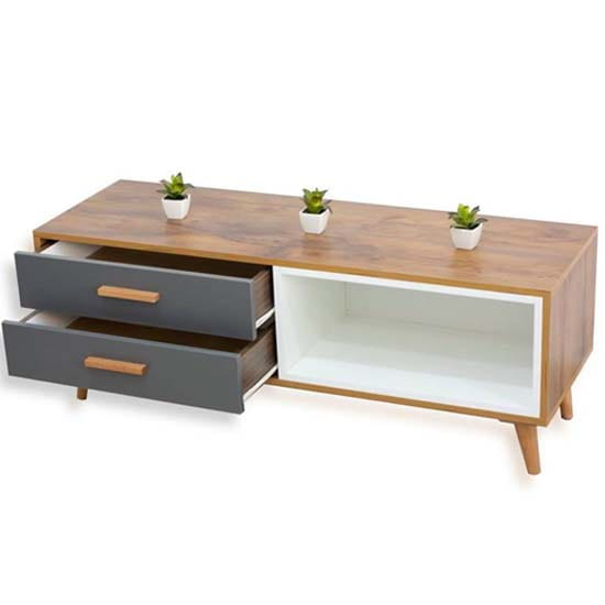 meuble-tv-2-tiroirs-chêne-blanc-gris
