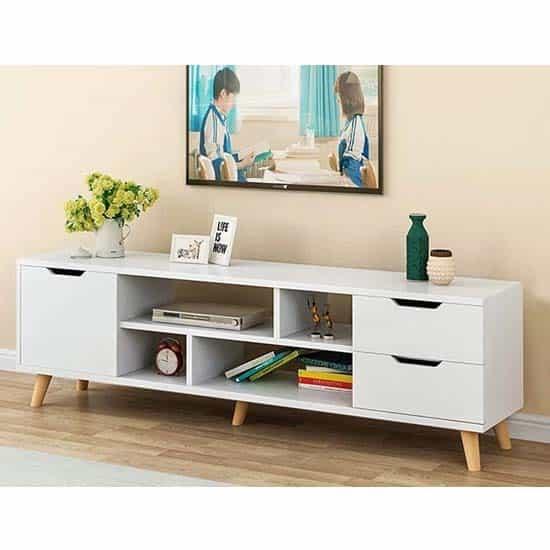 meuble-tv-scandinave-blanc-tunisie