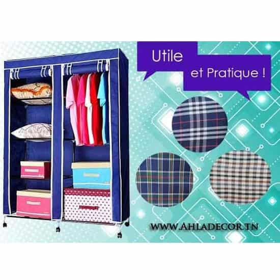 armoire-penderie-tissu-démontable-moderne-tunisie