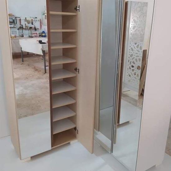 meuble-chaussures-2-portes-miroir-chêne-tunisie